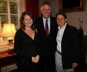 Amy-Sarah Marshall and Lisa Green joined Gov. McAuliffe at a reception in June 2015.