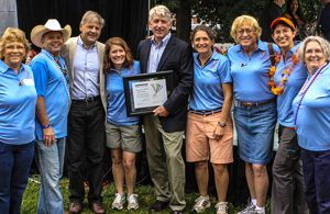 Cville Pride board with Attorney General Mark Herring and Rep. David Toscano at the 2014 Pride Festival.