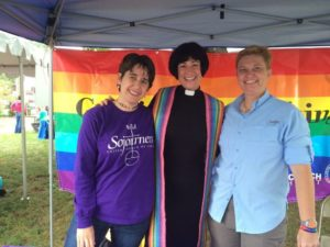 sojourners tent at pride festival