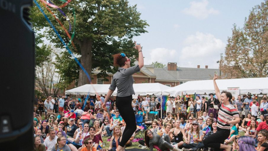 Dreama Belle performing at the 5th annual Cville Pride Festival