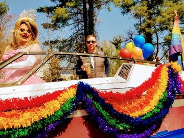 miss charlottesville gay pride on the dogwood festival float 2018