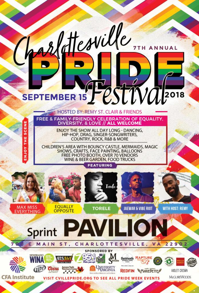 2018 pride festival flier
