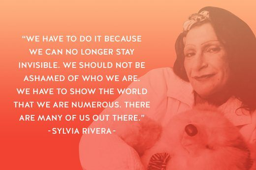 sylvia rivera, stonewall icon