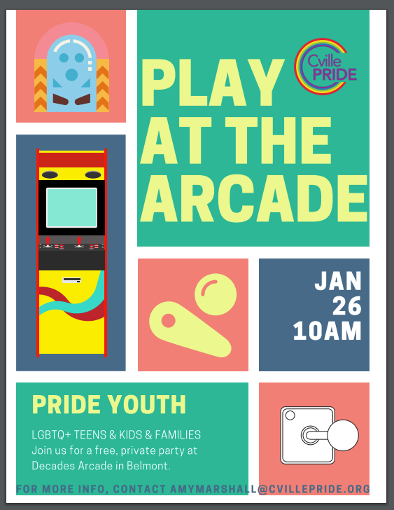 arcade day with youth pride