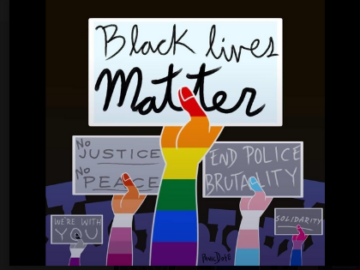black lives matter and pride graphic