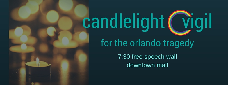 cville pride vigil for Orlando shooting